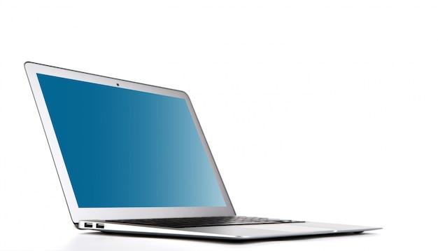 Laptop op een witte achtergrond