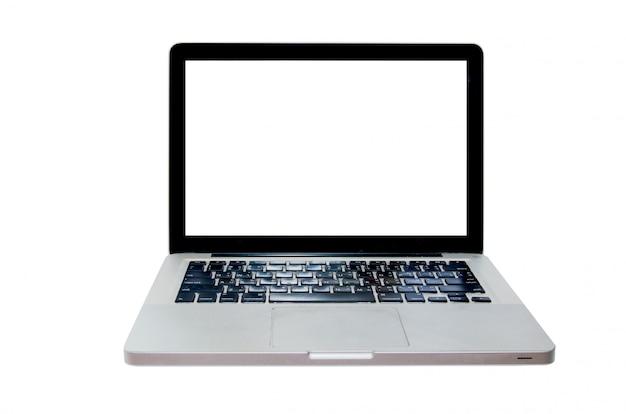Laptop op het wit