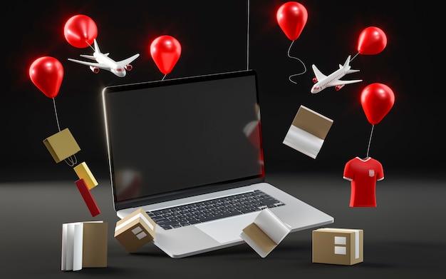 Laptop pictogram voor zwarte vrijdag verkoop