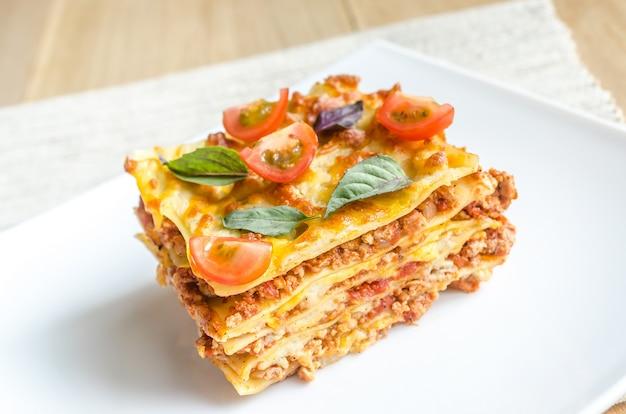 Lasagne met kerstomaatjes