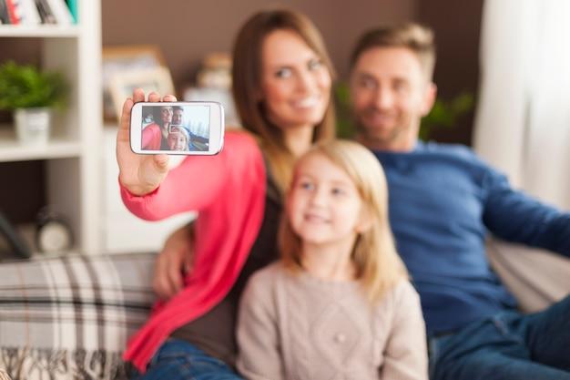 Laten we een selfie maken via de mobiele telefoon