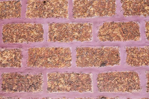 Lateriet stenen muur.