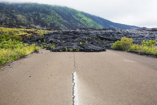 Lavastroom op big island, hawaii