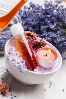 Lavendel lichaamsverzorgingsproducten.