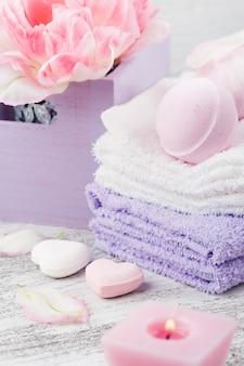 Lavendel schuimende badbommen en zeep