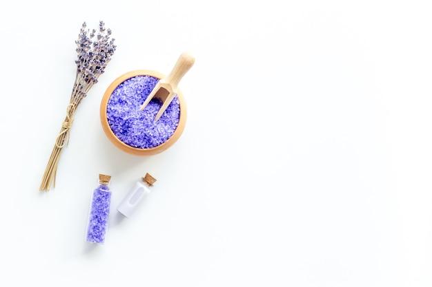 Lavendel spa-set met violet badzout en etherische olie