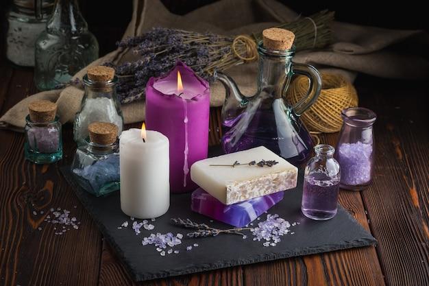 Lavendelzeep en zeezout