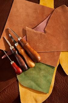 Leatherwork achtergrond
