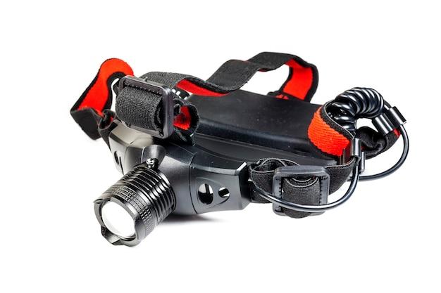 Led hoofdlamp met elastische armaturen.