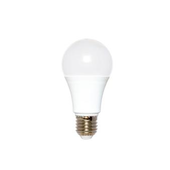 Led lamp geïsoleerd op witte achtergrond energy saver verlichting