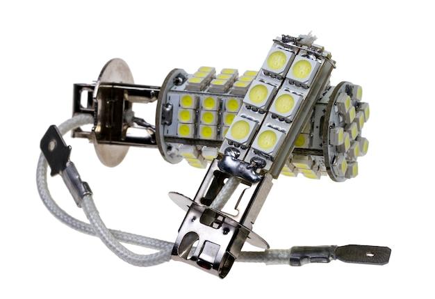 Led lamp voor auto geïsoleerd op de witte achtergrond