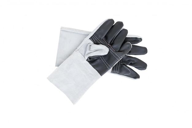 Lederen handschoenen op wit