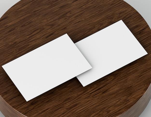 Leeg bedrijfsadreskaartje voor het kopiëren van kantoorbehoeften