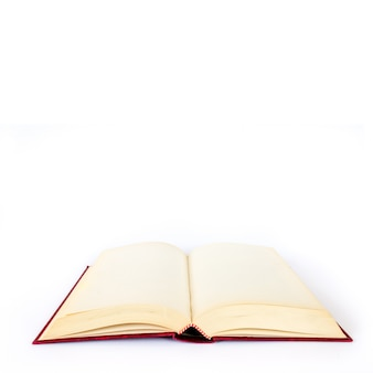 Leeg boek op wit