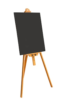 Leeg bord en bord op wit wordt geïsoleerd. bestand bevat met uitknippad zo gemakkelijk te bewerken.