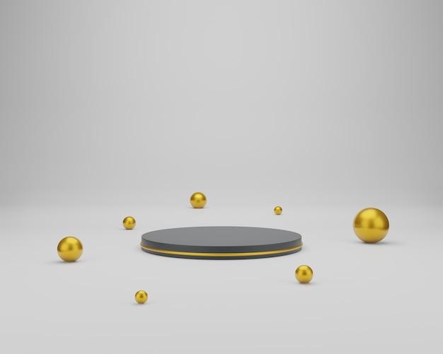 Leeg cilinderpodium op minimale achtergrond. abstracte minimale scène met geometrische vormen. ontwerp voor productpresentatie. 3d-weergave.