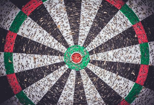 Leeg dartbord na harde training.