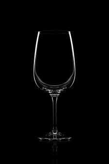 Leeg duidelijk wijnglas