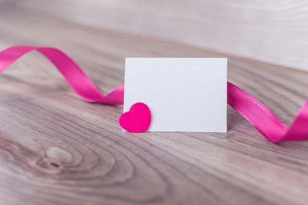 Leeg etiket op valentijnsdag