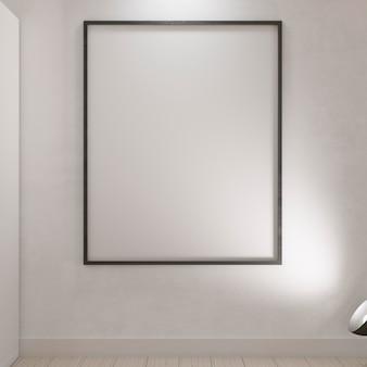 Leeg frame bord opknoping op de muur
