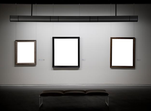 Leeg frame in het museum