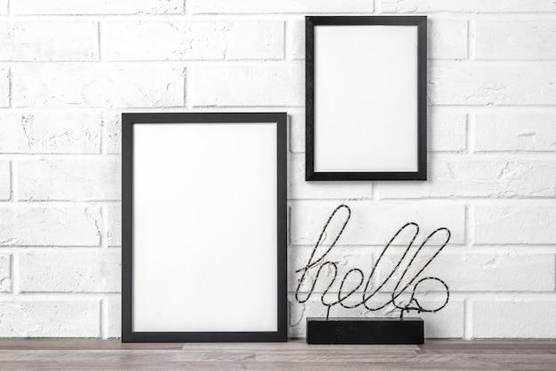 Leeg frame met hallo-teken