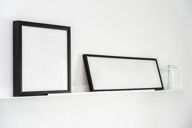 Leeg frame met het binnenland van de exemplaar ruimtedecoratie