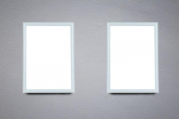 Leeg frame op een oude muur