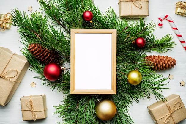 Leeg frame op kerstversiering