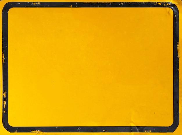 Leeg geel teken