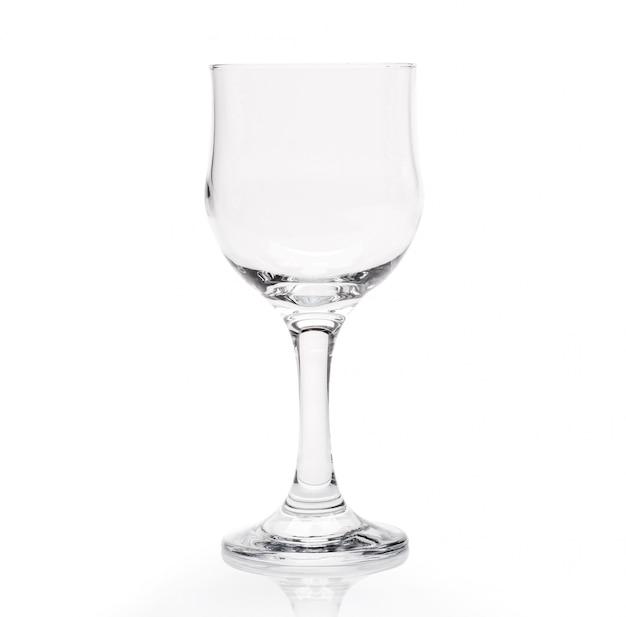 Leeg geïsoleerd wijnglas