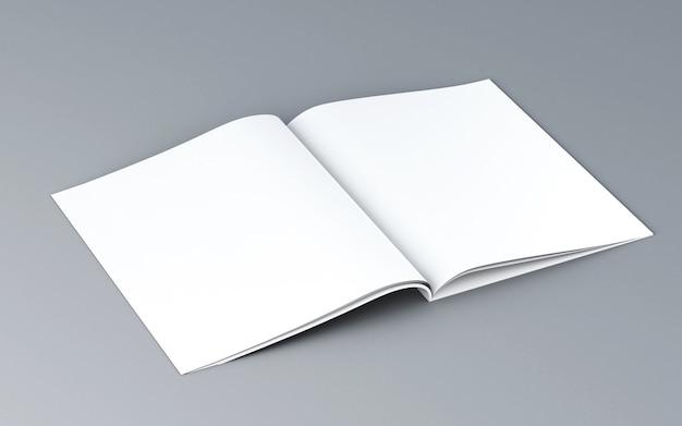 Leeg geopend tijdschrift