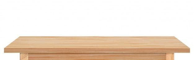 Leeg houten geïsoleerd tafelblad