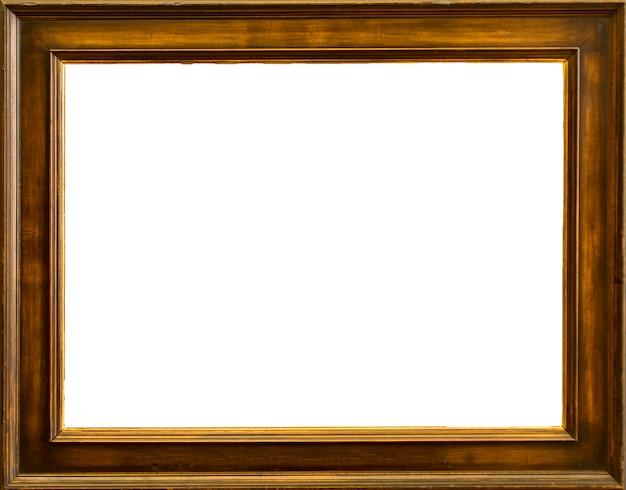 Leeg klassiek frame met geïsoleerde witte achtergrond