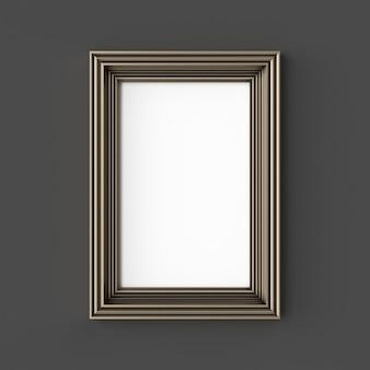 Leeg klassiek frame. sier gouden kleur.
