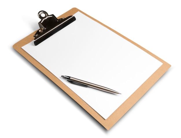 Leeg klembord met pen