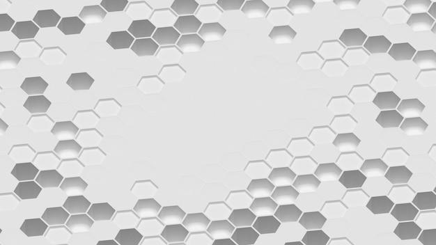 Leeg oppervlak omgeven door 3d-vormen