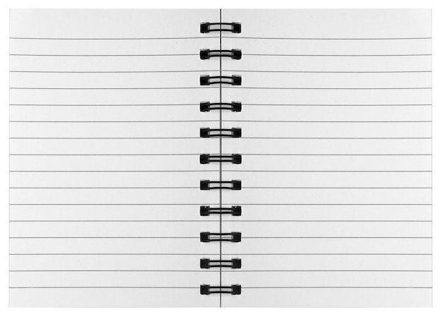 Leeg oppervlak. papieren spiraal notebooks geïsoleerd op whit