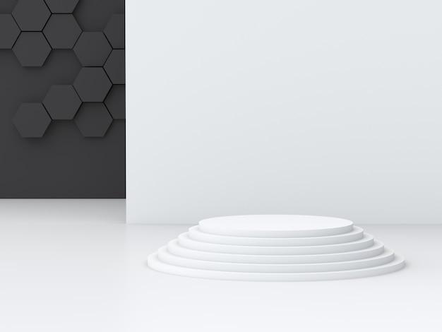 Leeg podium op witte achtergrond