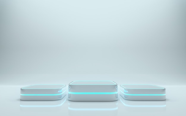 Leeg podium voor product. 3d-rendering - illustratie