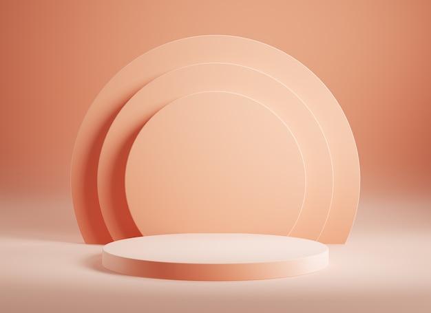 Leeg roze productpodium