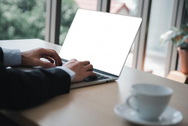 Leeg scherm laptopcomputer