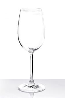 Leeg transparant glas voor wijn