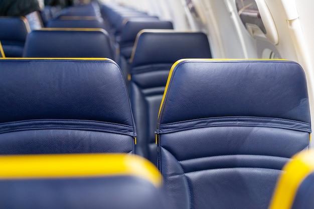 Leeg vliegtuig. passagiers gratis vliegtuig, geannuleerde vlucht.