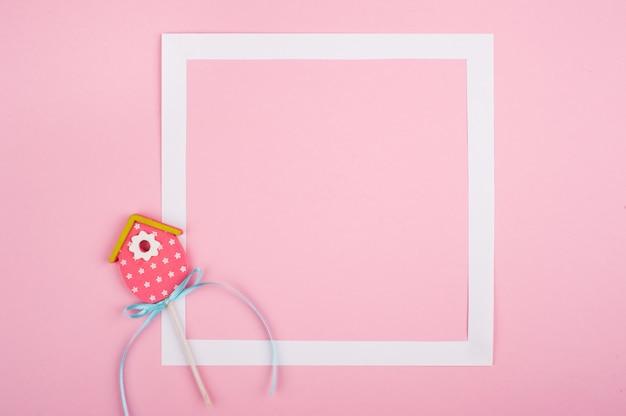 Leeg wit frame en diy decor