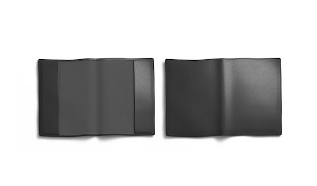 Leeg zwart paspoort omslagmodel