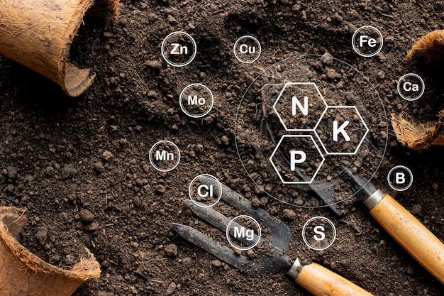 Leem voor gewassen en landbouwmachines met pictogrammen