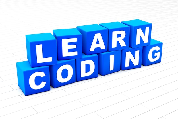 Leer codering woord illustratie