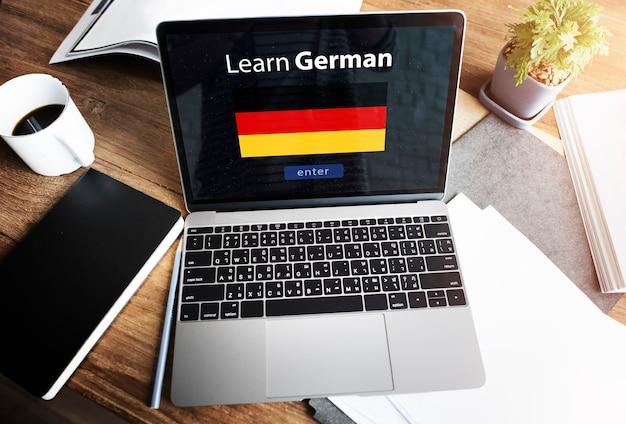 Leer duits online onderwijsconcept