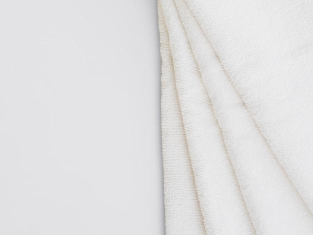 Leg handdoeken met kopie ruimte plat